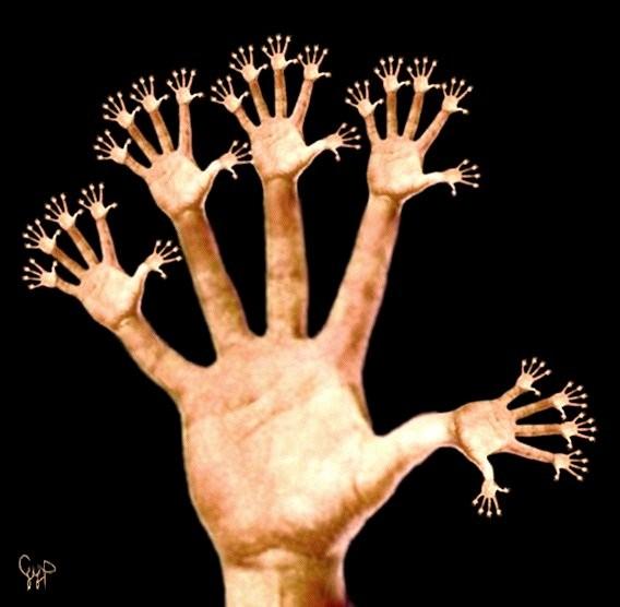 руки загребущие
