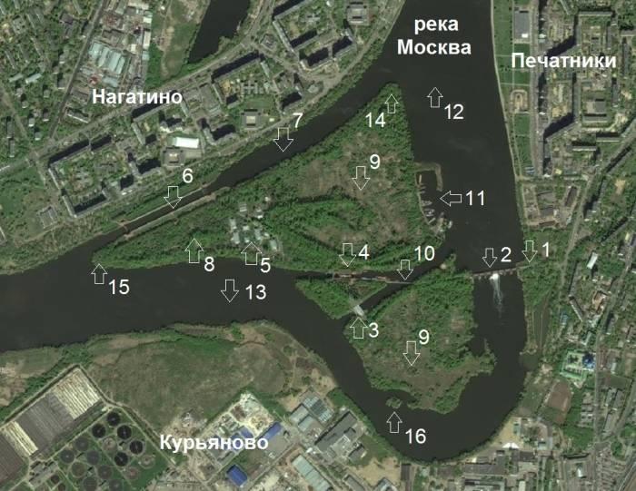 Москва река Перервинский гидроузел объекты