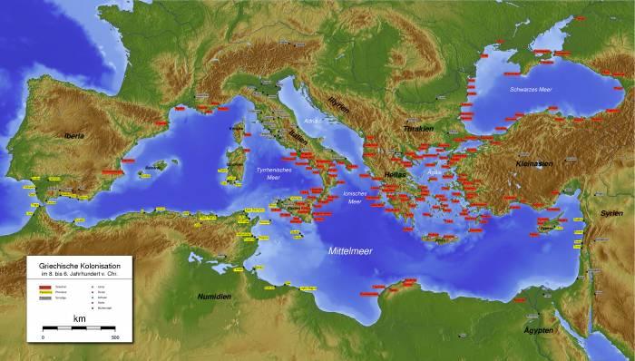 Средиземное море колонизация
