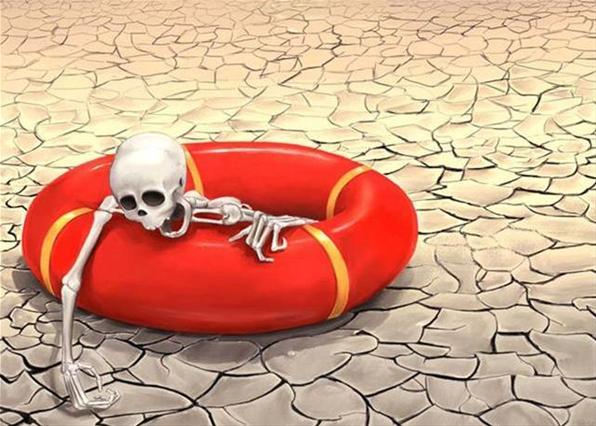 спасательный круг в пустыне