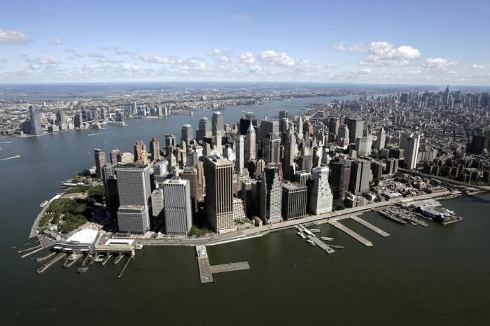 Нью-Йорк, южная часть острова Манхетен