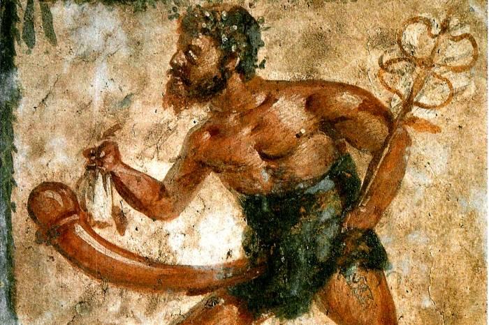 Помпеи фреска в лупанарии (публичный дом)