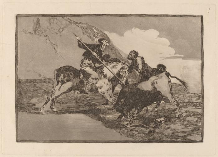 испанцы охотятся на быка