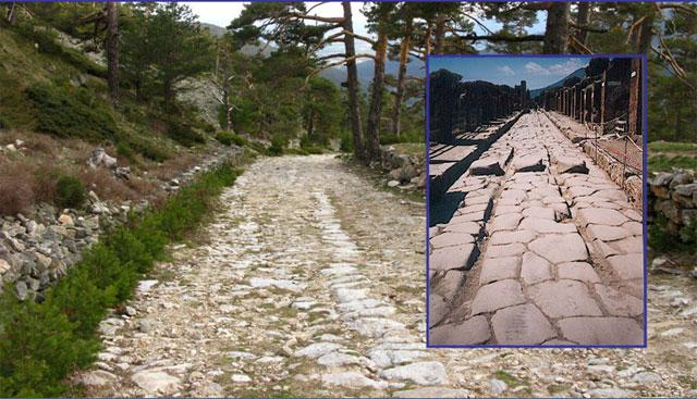 римские мощеные и колейные дороги