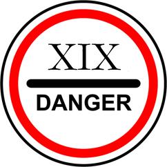 знак опасности 19 век