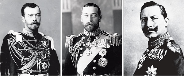 Николай-2, Георг-2, Вильгельм-2
