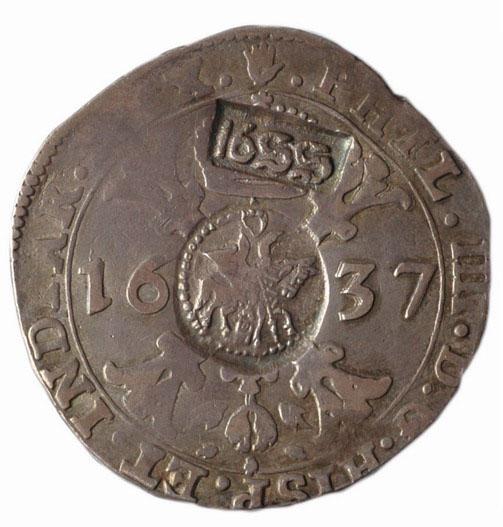 рубль 1655 г. ефимок с признаком