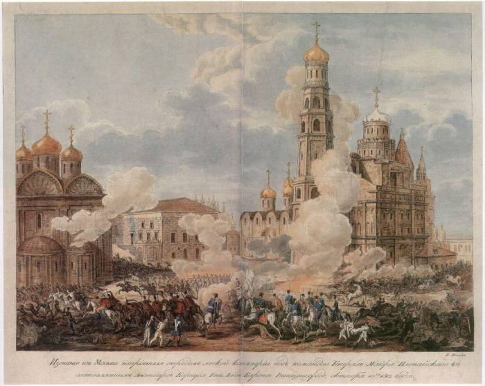 1812 изгнание французов из Кремля казаками Иловайс