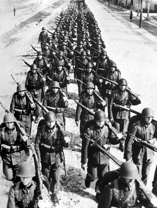 1939 г польская пехота на марше