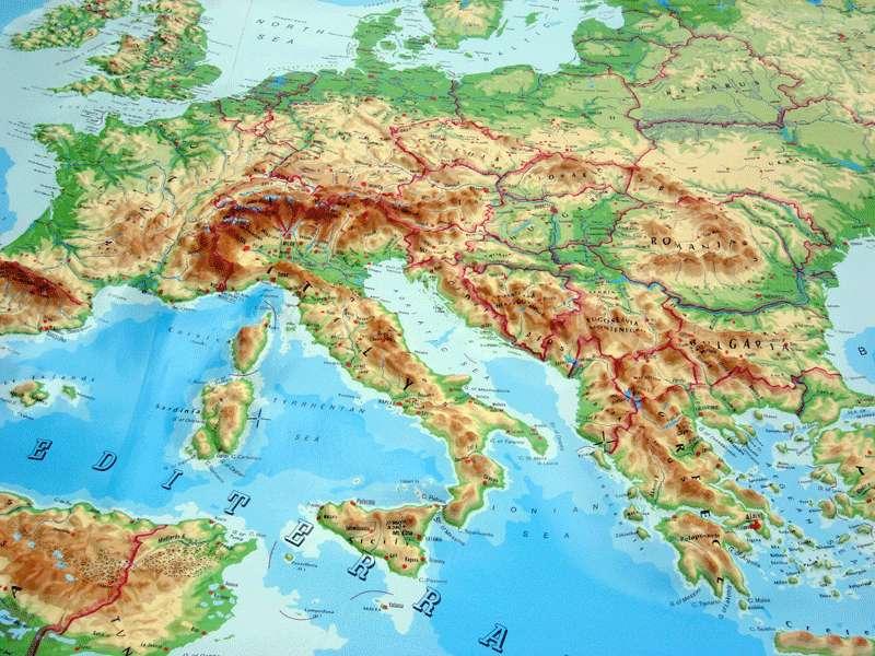 рельеф Европы