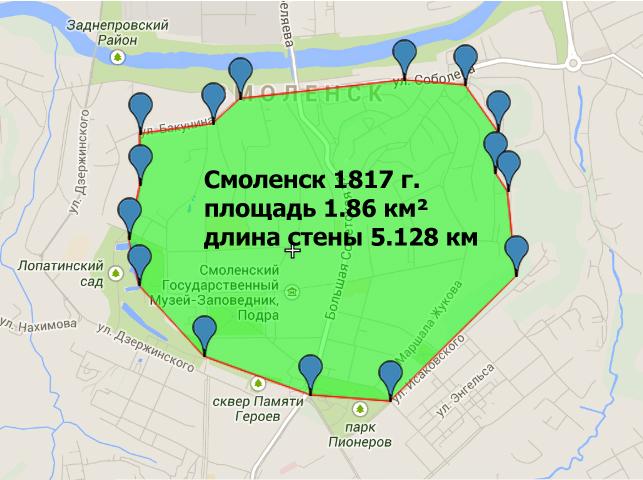 Смоленск площадь 1817