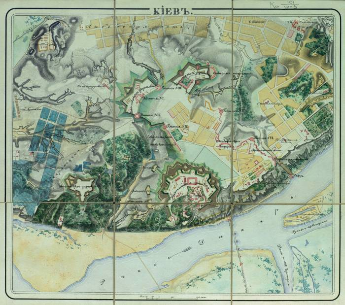 карта Киевской крепости из