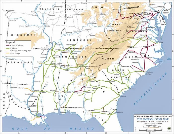 США железные дороги в войну 1861-1865 гг