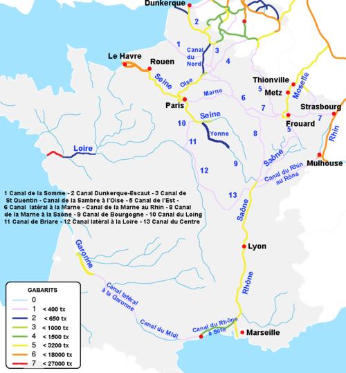 каналы Франции