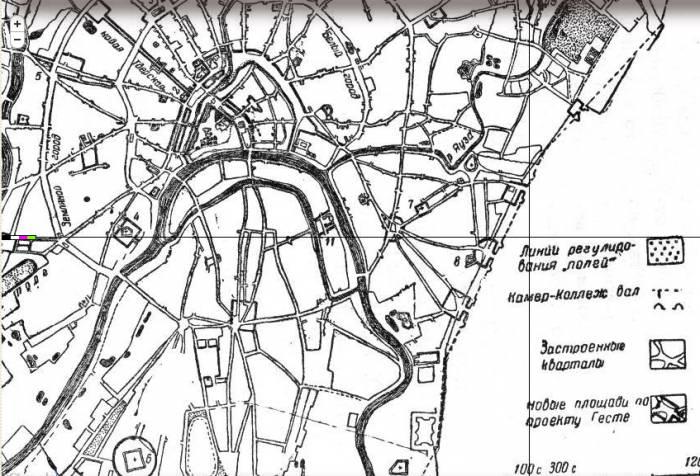 1813 план Гесте восток