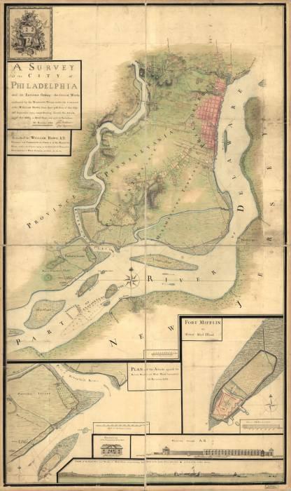 Филадельфия 1777 форт Mud