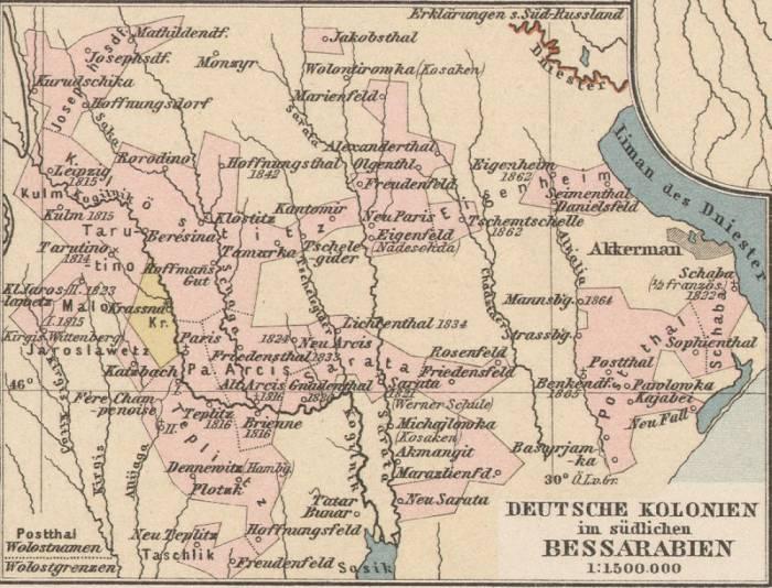 колонизация немецкая 19 век Бессарабия