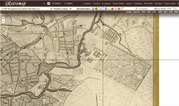 Лефортовский парк 1739-1