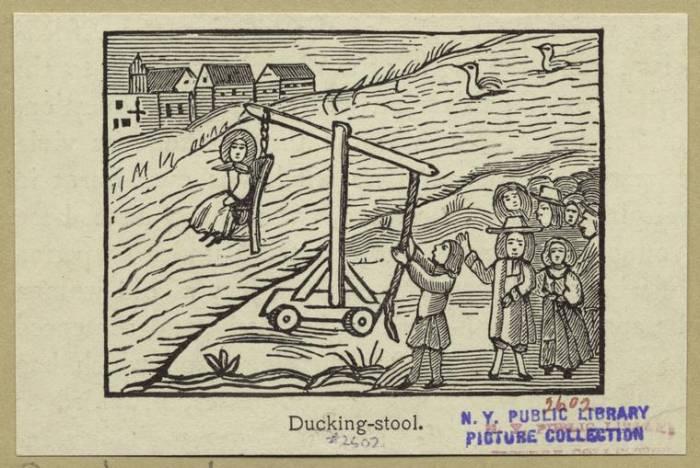испытание ведьмы водой - ведьмин стул