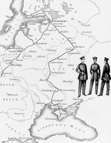 1853-55 телеграфные линии Российской империи