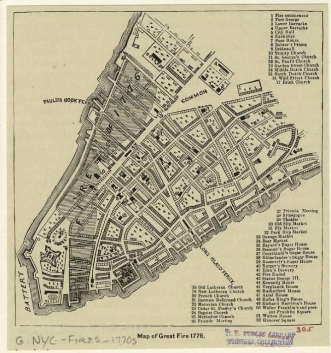 Нью-Йорк 1776 пожар