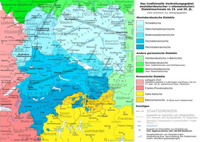 немецкие диалекты