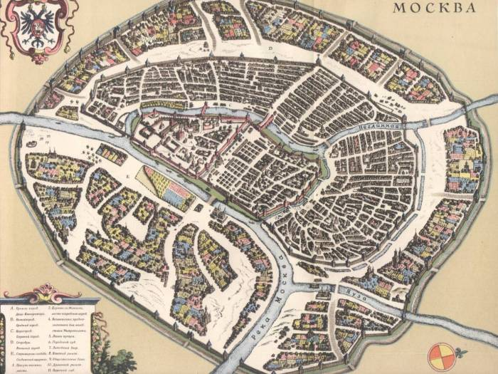 Москва 1638 план Мериана