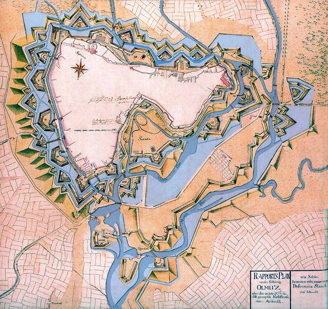 карта Оломоуц