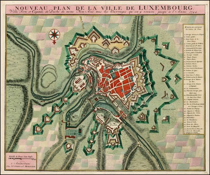 карта Люксембург 1744