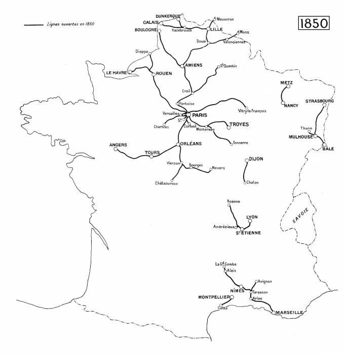 1850 железные дороги Франции