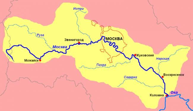 Москва река бассейн