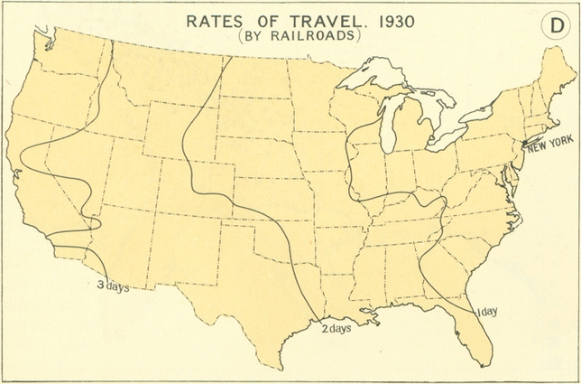 rates of travel 1930s