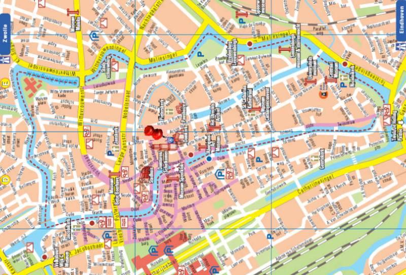 карта Утрехта