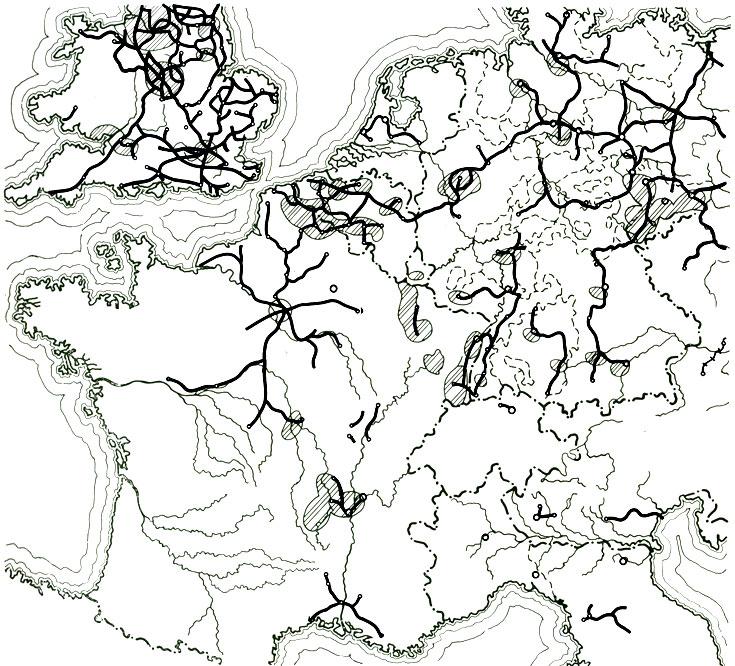 1850-е железные дороги Европы