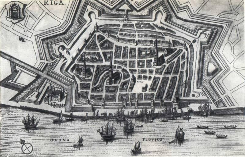 Рига 17-18 веков