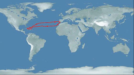 маршрут первого путешествия