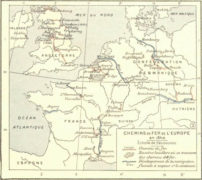 1840 железные дороги Европы