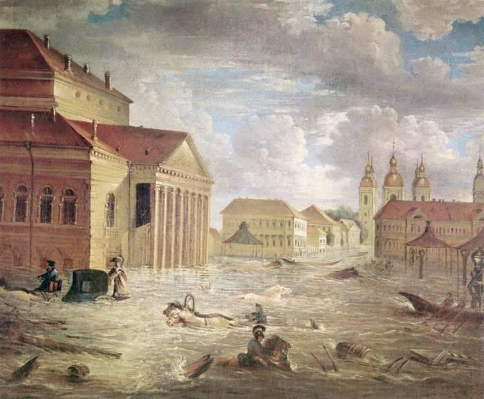 Петербург наводнение 1824 г