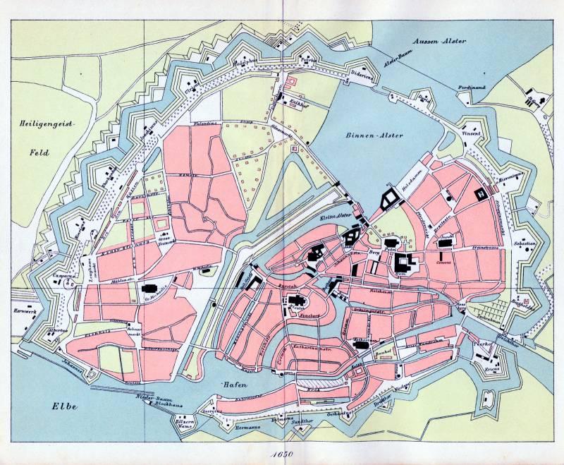 Гамбург карта 1650 г