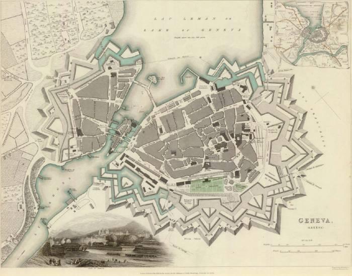 карта Женева 1841