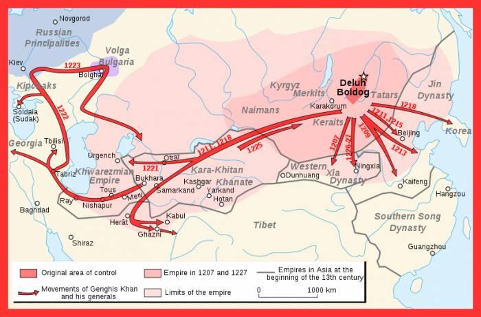 монголо-татары завоевания