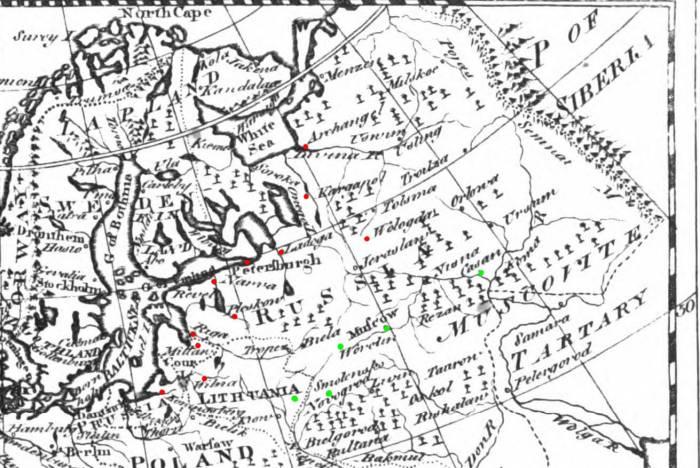 1771 карта из Британики фрагмент