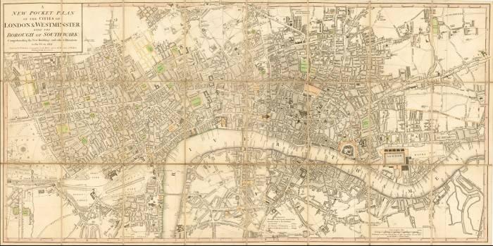 Лондон 1807 год карта