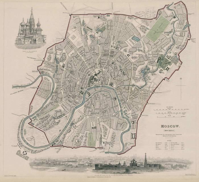 Москва 1836 карта