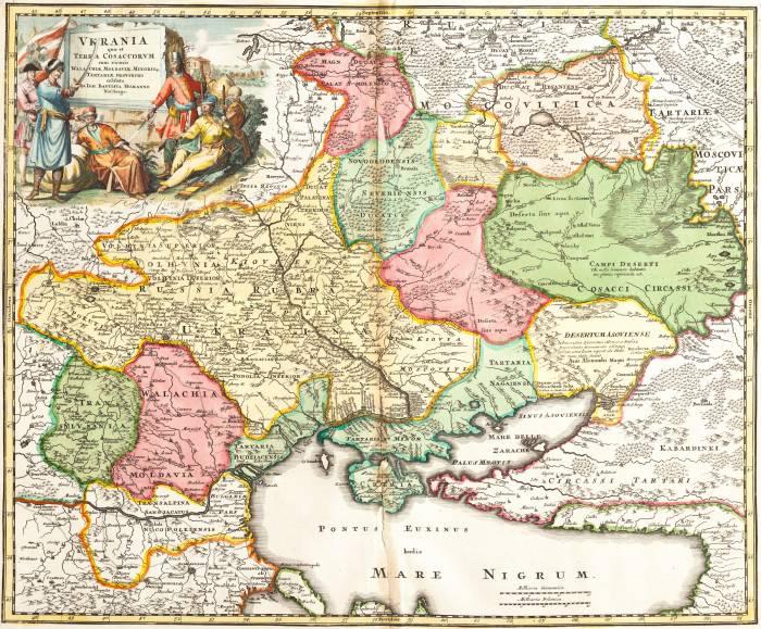 1720 карта Россия Украина