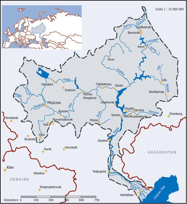 река Волга - транспорт