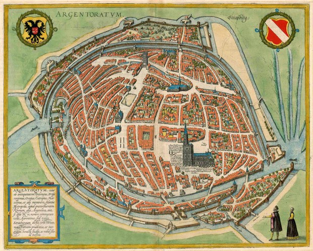 карта Страсбург 1548