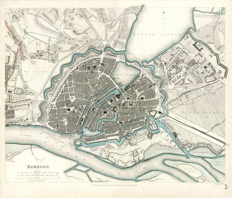 Гамбург карта 1841 г.