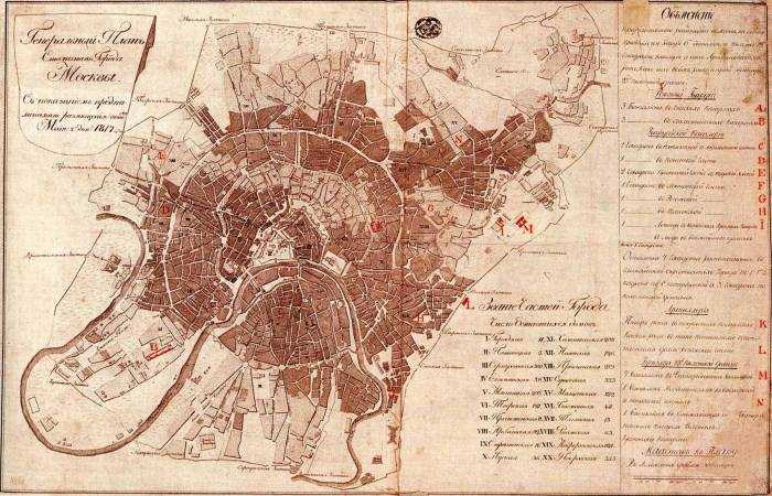 Москва 1817 карта