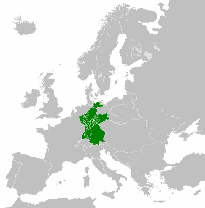 Рейнский Союз в 1812 г.